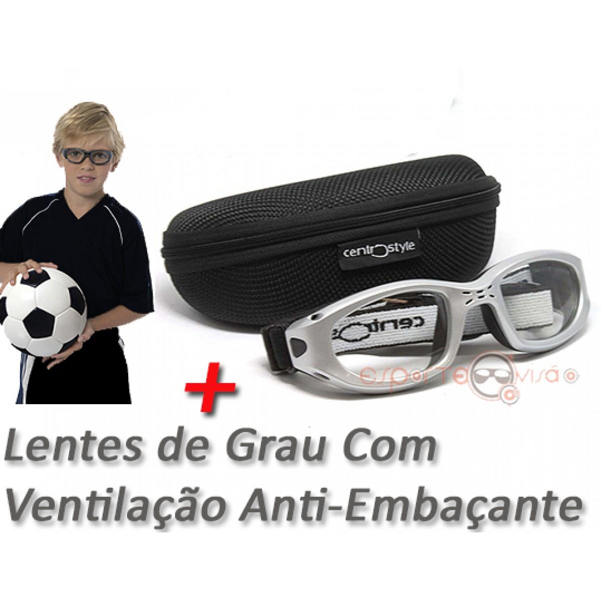 bfdf2b97f Óculos Centro Style Infantil com Grau e Sistema de Ventilação Anti-Embaçante