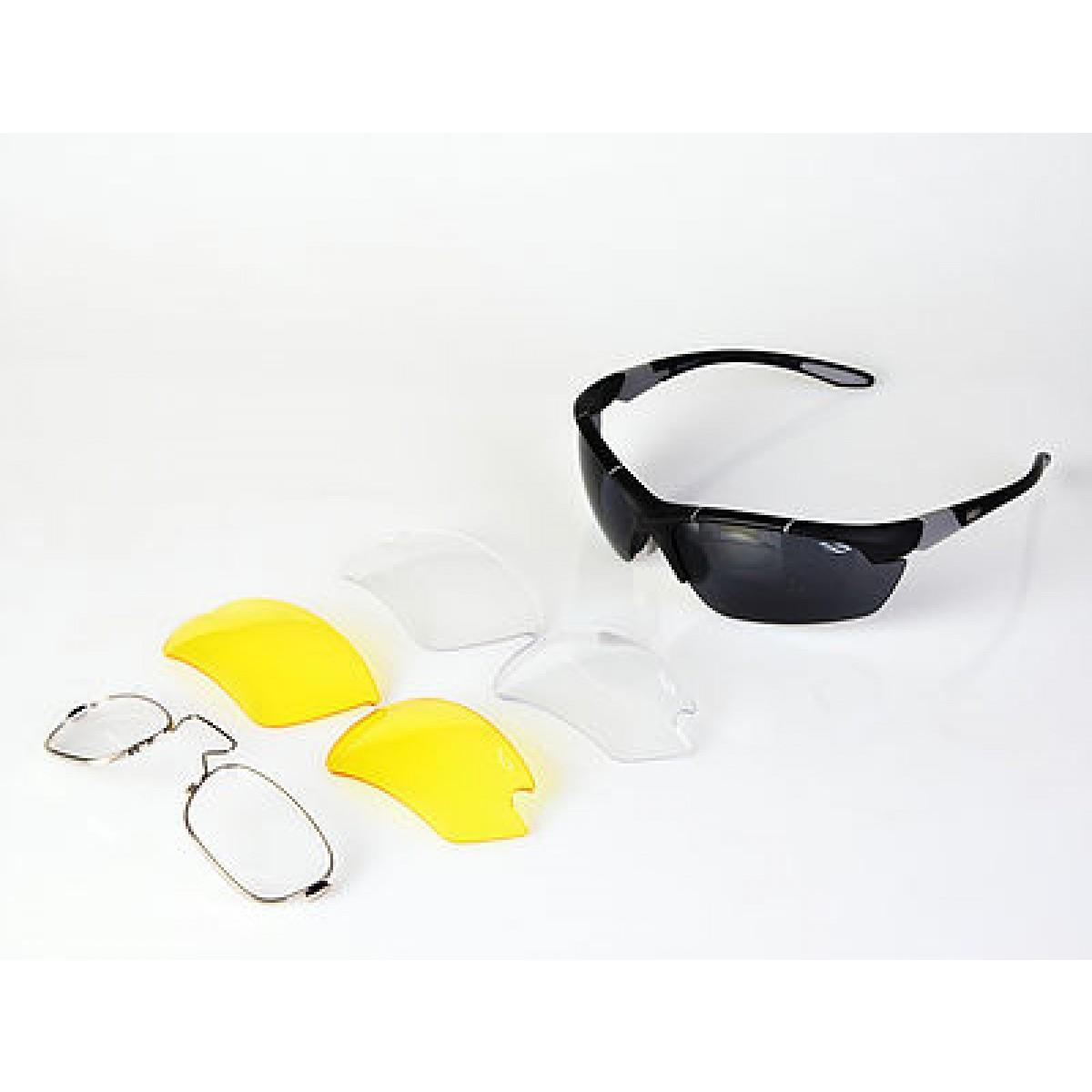 Óculos Disix Racer C01 c  clip-on p  grau e 3 lentes c76085f938