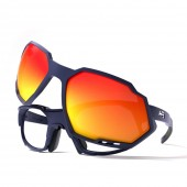 HB RUSH Ciclismo Clip-on Matte Navy/ Multi Red