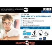 Lente HB Anti-Embaçante Blue Ligth UV Policarbonato